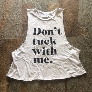 Tops - Don't Tuck with Me tank top